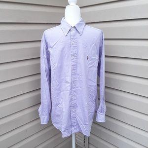 Ralph Lauren purple button down dress shirt 16.5
